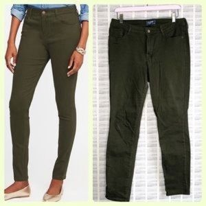 Old Navy Rockstar Mid Rise Green Jeans